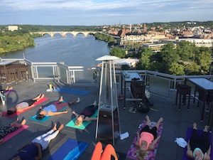Watergate Hotel rooftop yoga